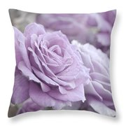 All The Soft Violet Roses Throw Pillow