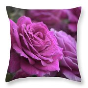 All The Violet Roses Throw Pillow