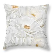 All The White Roses  Throw Pillow