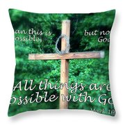 All Things Are Possible With God Throw Pillow