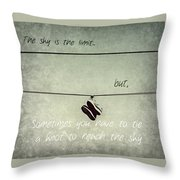 All Tied Up Inspirational Throw Pillow