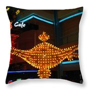 Alladins Lamp Throw Pillow