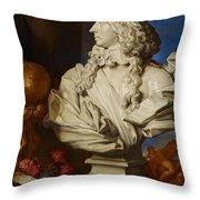 Allegorical Still Life Throw Pillow by Francesco Stringa