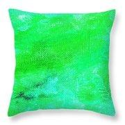 Allegory Aqua Green Throw Pillow