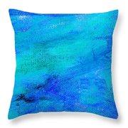 Allegory Blue Throw Pillow