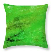 Allegory Emerald Green Throw Pillow