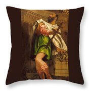 Allegory Of Navigation With A Cross-staff Throw Pillow