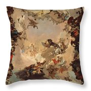 Allegory Of The Planets And Continents Throw Pillow