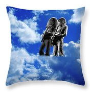 Allen And Steve In Clouds Throw Pillow