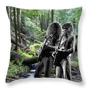 Allen And Steve On Mt. Spokane 2 Throw Pillow
