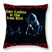 A C  Is The Blue Free Bird Throw Pillow