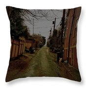 Alley 3 Throw Pillow