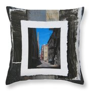 Alley 3rd Ward And Abstract Throw Pillow