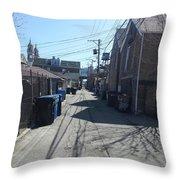 Alley 43 Throw Pillow