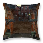 Alley At Dusk Throw Pillow