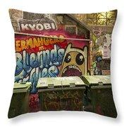 Alley Graffiti Throw Pillow