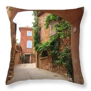 Alley In Roussillion Throw Pillow