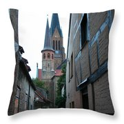 Alley In Schleswig - Germany Throw Pillow