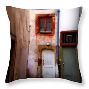 Alley In Strasbourg Throw Pillow