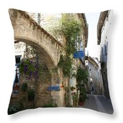 Alley In The Procence Throw Pillow