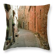 Alley In Tourrette-sur-loup Throw Pillow