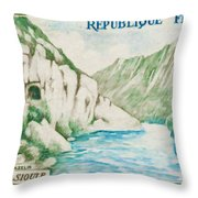 Alley Of Sioule Throw Pillow