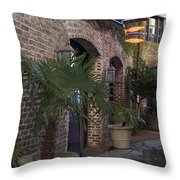 Alley Restaurant Throw Pillow