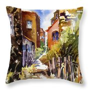 Alleyway Charm 2 Throw Pillow