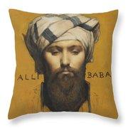 Alli Baba Throw Pillow
