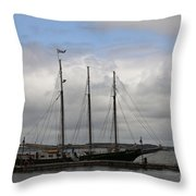 Alliance Schooner Throw Pillow by Teresa Mucha