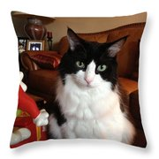 Allie Staring Throw Pillow