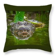 Alligator 2 Throw Pillow