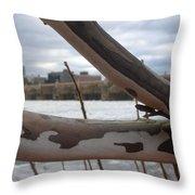 Alligator Branch Throw Pillow