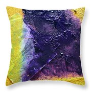 Collage Nr. 11 Alligator River Throw Pillow by Jo Ann
