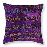 Alligator Sausage For Five Dollars 20130610 Throw Pillow