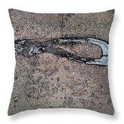 Alligator Skull Fossil 3 Throw Pillow