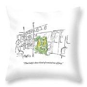 Alligators Riding The Subway Throw Pillow