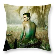 Alligatra Of Caddo Throw Pillow
