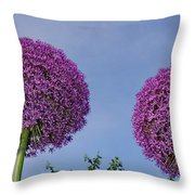 Allium Flowers Throw Pillow