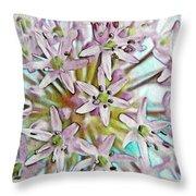 Allium Globe Throw Pillow