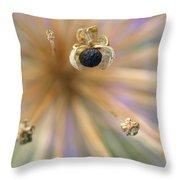 Allium Lucille Ball Seedpod Throw Pillow
