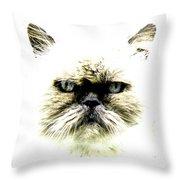 'allo Kitty Throw Pillow