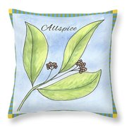 Allspice Illustration Throw Pillow