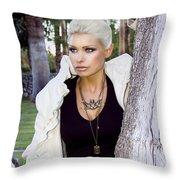 Allure Palm Springs Throw Pillow