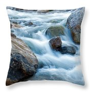 Alluvial Fan Falls On Roaring River Inrocky Mountain National Park Throw Pillow