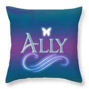 Ally Name Art Throw Pillow