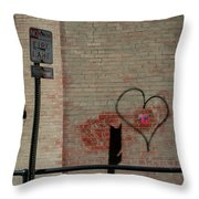 Allyway Theater Throw Pillow