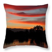 Almaden Sunset Throw Pillow