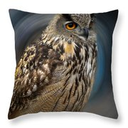 Almeria Wise Owl Living In Spain  Throw Pillow