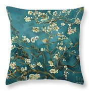 Almond Blossoms' Reproduction Throw Pillow